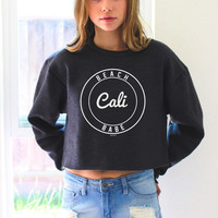 Beach Babe, Cali Cropped Sweater