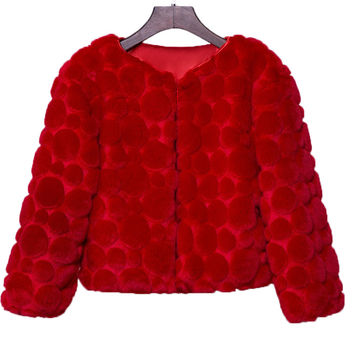 Red Faux Fur Warm Jacket Bridal Shawls with Long Sleeves Wedding Bolero Wraps Coat Wedding Fur Bolero faux fur stoles