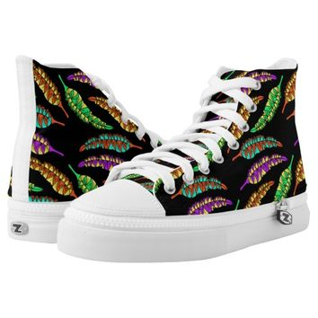 Tribal Feathers Printed Shoes