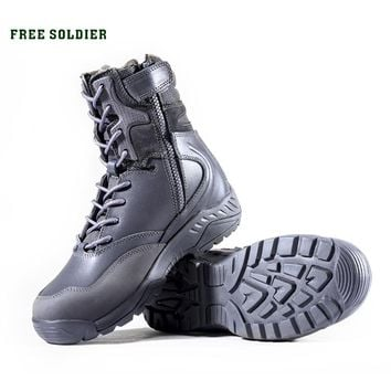 FREE SOLDIER Outdoor Sports Tactical Ankle-high Shoes Men's Boots For Hiking,Camping