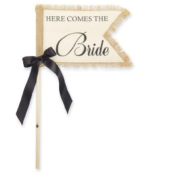Here Come's The Bride Flag
