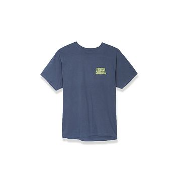Stussy Hippie Swing Pigment Dyed Tee - Navy