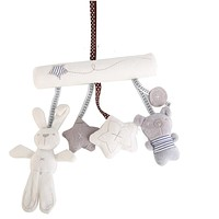 baby rabbit toy baby bed Stroller Hanging Rattle Plush Soft musical mobile toy Carriages 18% off