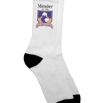 Member of the Wolf Pack Adult Crew Socks