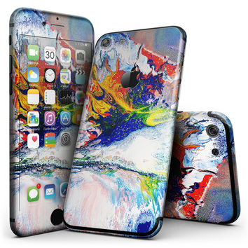 Bright White and Primary Color Paint Explosion - 4-Piece Skin Kit for the iPhone 7 or 7 Plus
