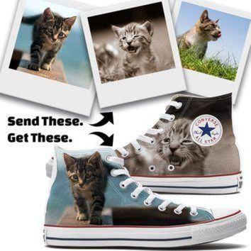 LMFUG7 Custom Cat Converse High Top Chucks