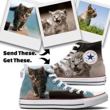 DCCKHD9 Custom Cat Converse High Top Chucks