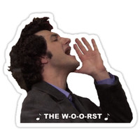 'the worst' Sticker by hmbustamante