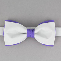 Gray Bow Tie Purple Bow Tie Double Color Bow Tie for Men Wedding Bow Tie Modern Bow Tie Mens Bow Tie Gift for Men in Gray Bartek Design