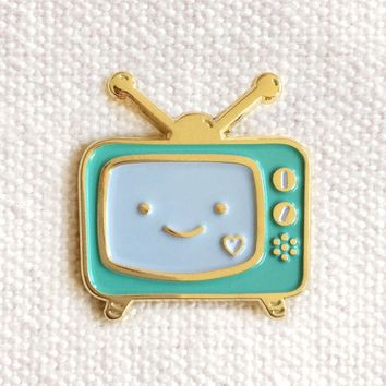 Night Owl Paper Goods - Binge Watcher Enamel Pin