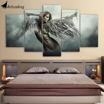 HD printed fantasy angel warrior wing painting
