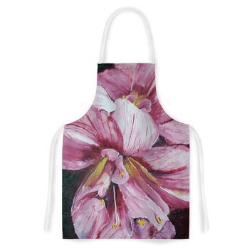 "Cathy Rodgers ""Pink Day Lily Blooms"" Pink Flower Artistic Apron"