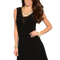 Dare Lace Detail Dress in Black