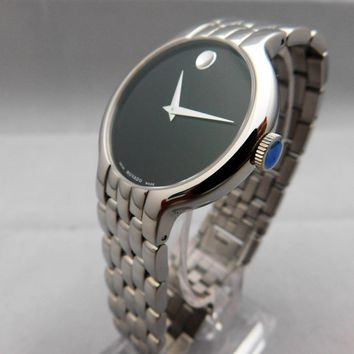Movado Venturi Museum Stainless Steel Mens Watch....New....38mm