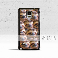 Trippy Sloth Heads Case Cover for Samsung Galaxy S3 S4 S5 S6 S7 Edge Plus Active Mini Note 1 2 3 4 5