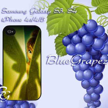 Tinkerbell Green Leave Design for iPhone 4, iPhone 4s, iPhone 5, Samsung Galaxy S3, Samsung Galaxy S4 Case