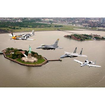 Heritage Flight Nyc Warplanes Warbirds Military Aviation 11 inch x 17 inch Poster