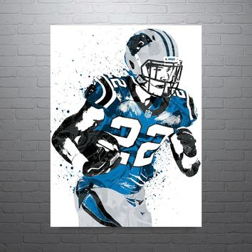 Christian McCaffrey Carolina Panthers Poster