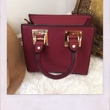 Milani Mini Tote- Burgundy