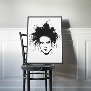 The Cure Poster Robert Smith Art Painting Print