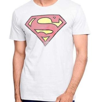 Superman Power Up Grey Half Sleeve Men T-Shirt