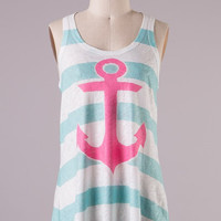 Anchor Tank Top - Mint