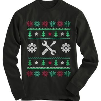 Mechanic Ugly Christmas Sweater