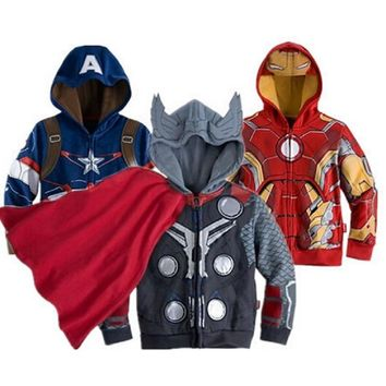 2018 Boys the Avengers Kids Jackets & Coats Childrens Outerwear & Coats Superhero Captain America Jackets Children Clothing