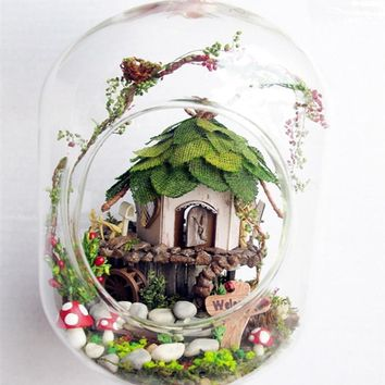 GN01 diy glass ball wooden doll houses miniature dollhouse kit -Jungle Witch