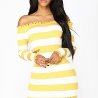 Need You Knit Dress - Mustard
