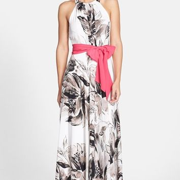 Women's Eliza J Print Chiffon Maxi Dress,