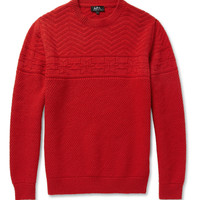 A.P.C. Patterned Merino Wool Sweater | MR PORTER