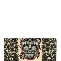 Lace Skull With Fuschia Wallet