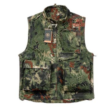 Chiefs Hunting Clothing Tactical Python Pattern Camouflage Vests Outdoor Hunting Camping Jacket Shooter Vests Combat Gear Chasse