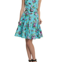 Hell Bunny Floral Halter Dress