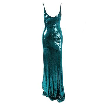 Mora Sequin Maxi Dress Emerald