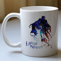 Gift custom mug  espresso patronum harry potter in galaxy  custom cup for family and friends