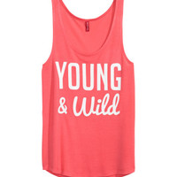 Sleeveless Tank Top - from H&M