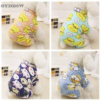 Cute Printed Pet Clothes Small Dog Jumpsuit Chihuahua Pajamas Pet Hoodie Coat for Dogs Cats Super Soft Warm Puppy Dog Costume