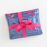 Women's Make-Up Bags: 3-in-1 Gingham Make-Up Bag for Women - Vineyard Vines