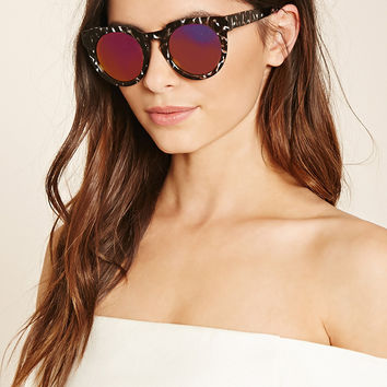 Abstract Round Sunglasses
