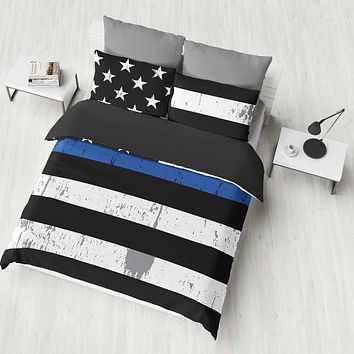 Thin Blue Line Bedding | Herzoge™