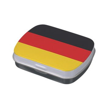 Patriotic candy tins with Flag of Germany
