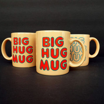 Authentic Vintage Big Hug Mugs - As Seen On HBO True Detective - Set of 3 FTD - Rust Cohle / Matthew McConaughey's Mug