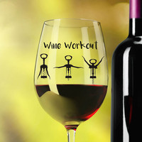 Funny Wine Glasses ~ Holiday Wine Workout ~ Christmas wine glass for coworker, sister, mom ~  December birthday gift ideas ~ 20oz Glass