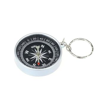 Lightweight Transit Portable Alloy Silver Nautical Compass Pocket Transit Geological Compass  outdoor hiking tools