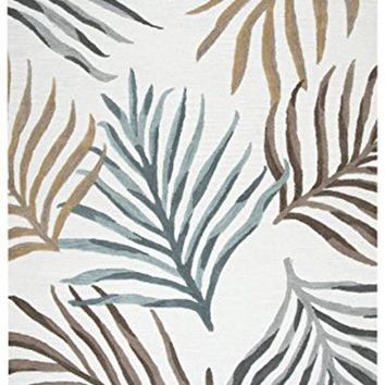 CA368A Cabot Bay Hand-Tufted Area Rug, Cream, 8' x 10' By Rizzy Home