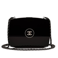 Chanel Limited Edition Black Compact Powder Minaudiere