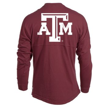 Official NCAA Texas A&M University Aggies A&M Reveille GIG EM!  Women's Long Sleeve Spirit Wear Jersey T-Shirt