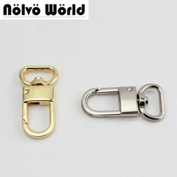 3/4 inch 20mm top ending gold silver tone trigger snap hook clasp metal clip swivel dog leash hardware